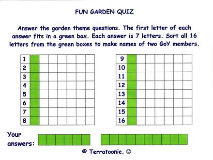 fun garden quiz grows on you