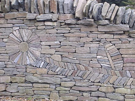 Stone Wall Art the art of the dry stack stone wall • nifty homestead