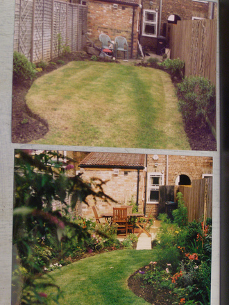Garden makeovers on pinterest garden makeover backyard for Garden makeover