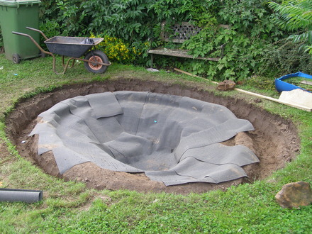 Replacing a pond liner and creating a new pond grows on you for Building a pond with liner