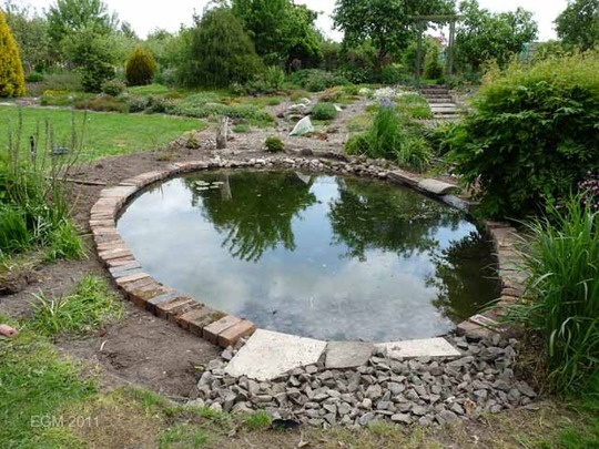 Pond edges house of fishery lovers for Garden pond edging