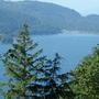 Cultus Lake on a sunny day.