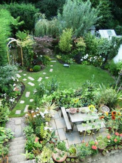 Garden with new borders.