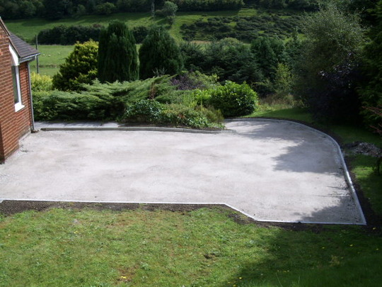 rolled and edged ready for tarmac