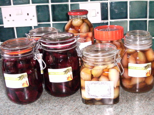 Pickled Shallots and Beetroot