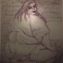Greedy eat  fat women  (painting)