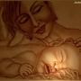 mum and sleeping  baby   (painting)