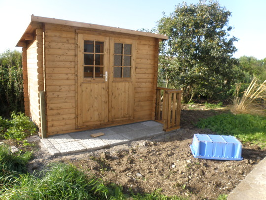 shed for bikes and fishing tackle etc.