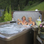 Jacuzzi in the alpine garden
