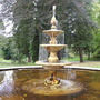 Fountain, Atholl Palace Hotel gardens, Perthshire, Scotland