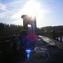 brenig dam man made water fall