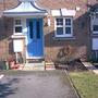 Front door, now my favourite colour.....Cornflower Blue.