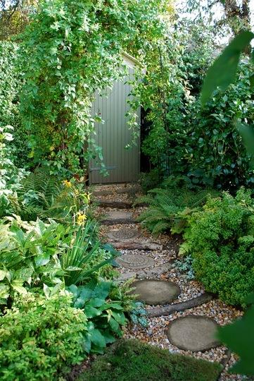 Re-vamped garden path.