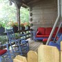 My front porch facing the lake