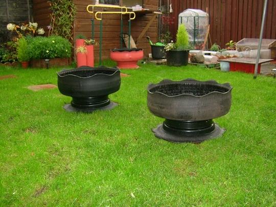 Vegetable garden ideas - Tyre Planters Grows On You