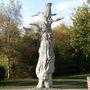 Sculpture on dead tree