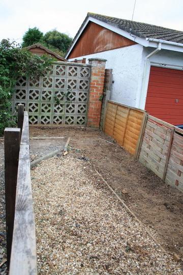 Escallonia hedge and Yuccas cleared