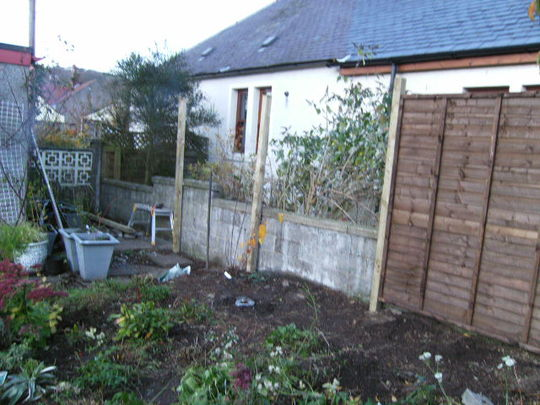 Old fence removal...