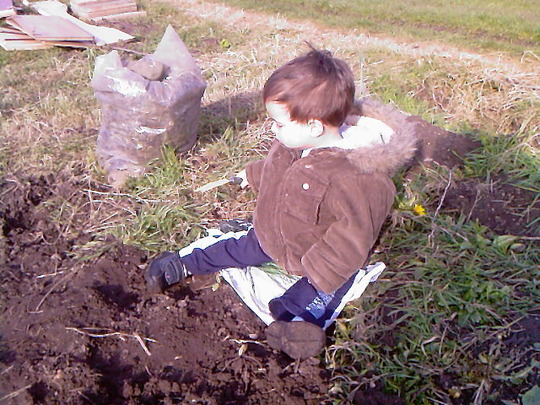 Mmm... digging for worms!!!