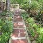 stairway on side of house (Rudbecia f Goldsturn)