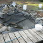 My pond...all pulled apart.