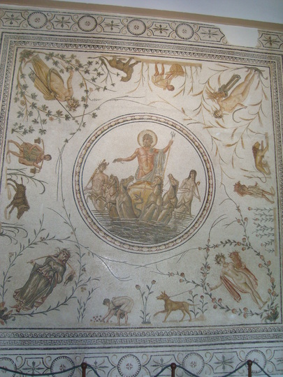 Roman Mosaic in Tunisia Sept 2009