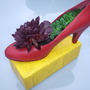 """Ruby Slipper"" with Sempervivum"
