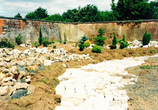 Beginning my conifer bed in 2000