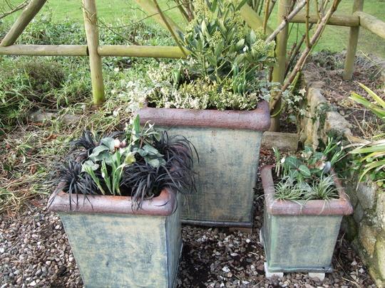 The three pots.