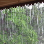 The wet season downunder:  Standing on the verandah is like standing behind a waterall.