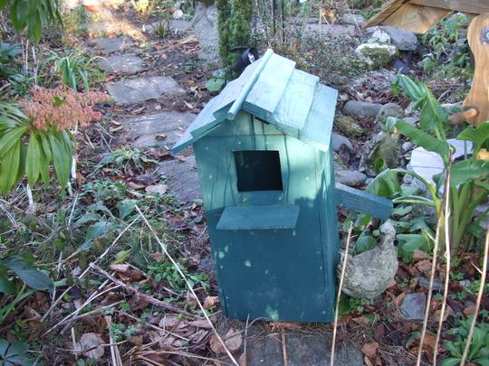 Owl box ready to put into tree
