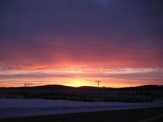Sunset on Return Trip