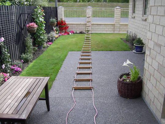 Our narrow garden in infancy!