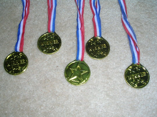 The Five Gold Medals!
