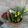 Small basket at front door...