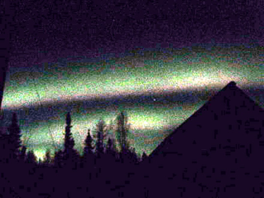 Aurora over house= for Greenthumb