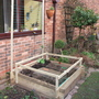 my new home-made veggie raised bed