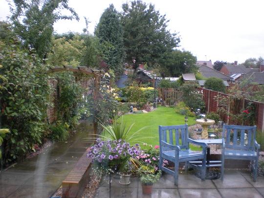 shinobi's garden in the rain