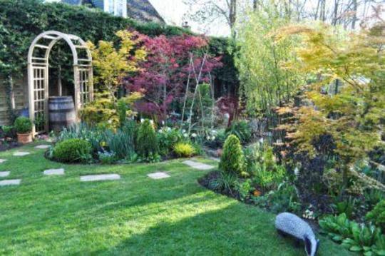 Top part of garden April