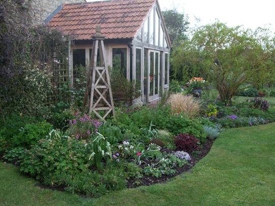 Outside the garden room...
