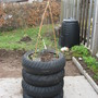 Raised bed tyres recycled