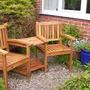 New Garden Seat in front gdn.