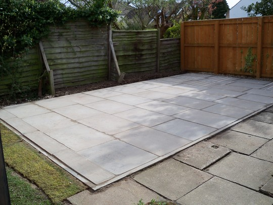finished paved area
