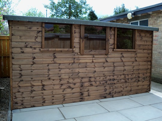 the new shed`