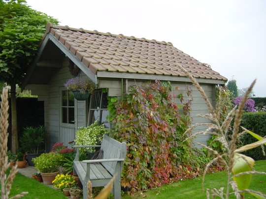 lóvely garden shed from our neighbours