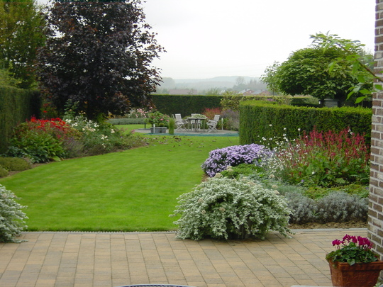 our neighbours' view on their back garden from their conservatory