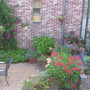 view from our bathroom onto patio from neighbours (2006)