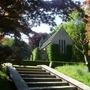 Small church in Preen Manor Garden Shropshire