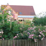 our house seen from the rose bed (in 2006)