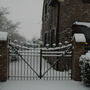 old gate under the snow